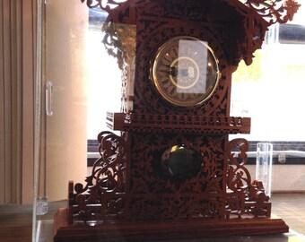 Luxury Hand Carved Hardwood Clock, Queens Clock