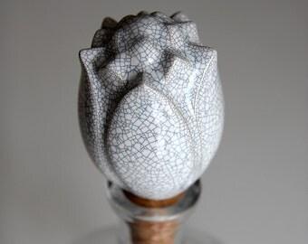 Ceramic White Flower Wine Bottle Stopper