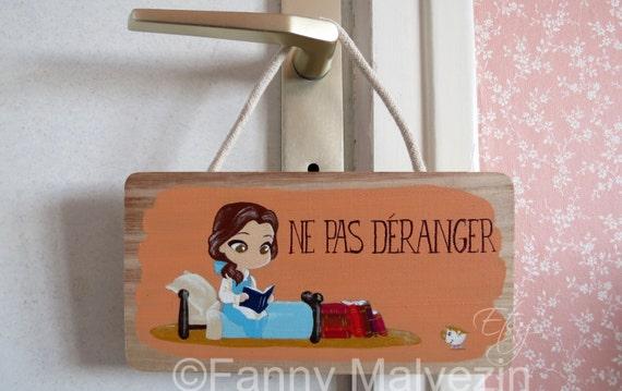 """Belle (Beauty and the Beast) door panel """"Do not disturb"""""""