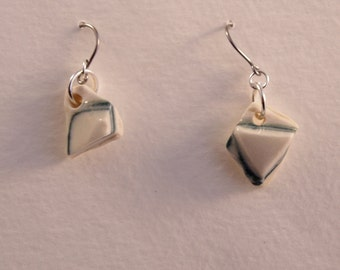 Porcelain earrings, handmade