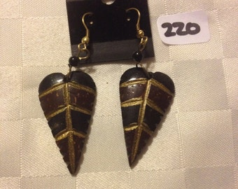 Handmade Earings made in Kenya with Soapstone. One of each available.