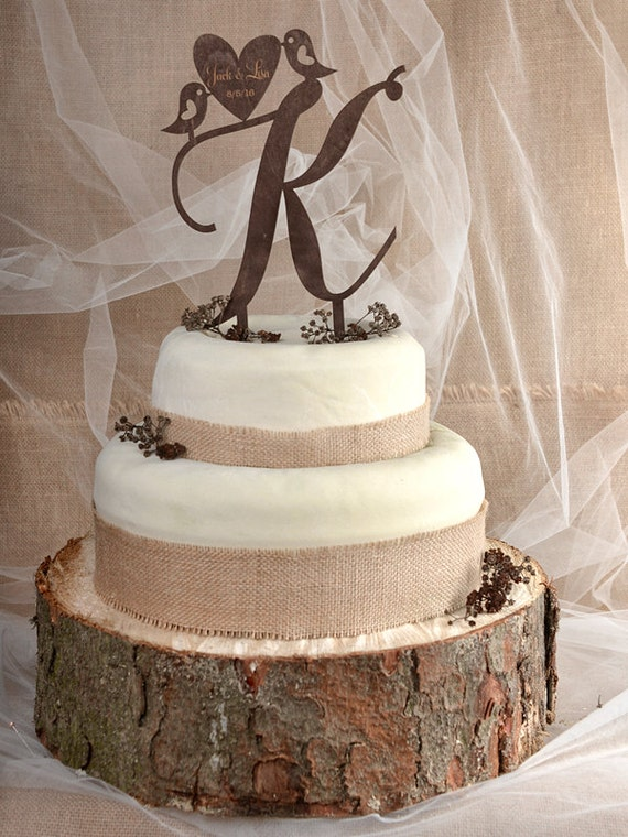 rustic wedding cake toppers etsy rustic cake topper wood cake topper monogram by 19584