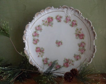 Flower Pattern Decorative Plate, Scallopped Edge Decorative Plate