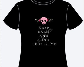 Pink SKULL shirt,skull shirt,gift for girls,womens shirt,TEEN shirt,party shirt,black shirt,pink HEADPHONES,teen gift,headphone tshirt,dj,