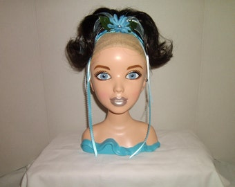 Silvermist! The Water Fairy! Costume Wig Hair Piece! Disney Fairies Inspired Hair Extension Ponytails for GIRLS!