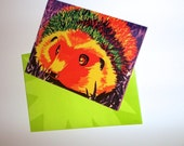 You Bring Color To My World Rainbow Hedgehog Card