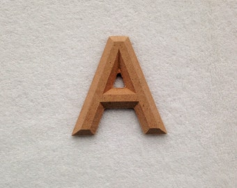 "Wood Letters Unfinished with Beveled Edge 2.25"" in Kalinga"