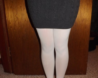 Gray Cable Knit Sweater Skirt