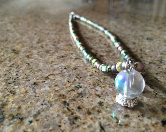 Beaded Crystal Ball Necklace
