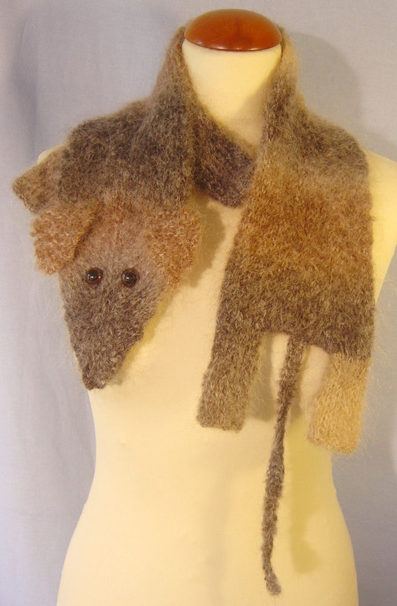 Warm soft fantasy mouse scarf