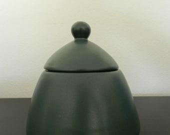 Retro green sugar bowl