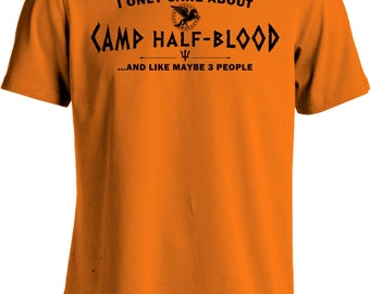 All I Care About Is Camp Half Blood T Shirt Percy Jackson Movie Shirt Long Island Sound Greek Demi God Youth Men's Tee MD-314