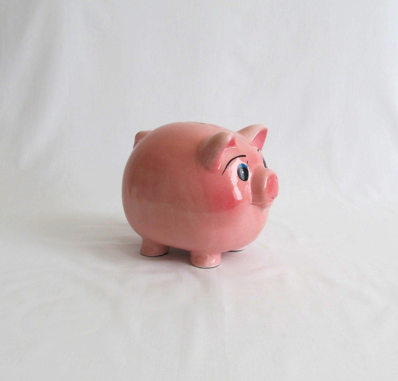 Pink Pig Vintage Ceramic Piggy Bank
