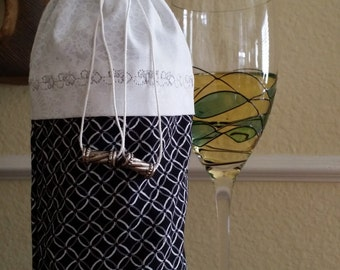 Wine Bag-Deluxe-Formal Collection (Black n' White)