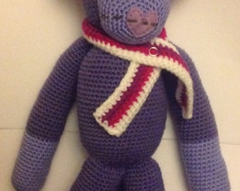 Cute Deluxe Crochet Sock Monkey