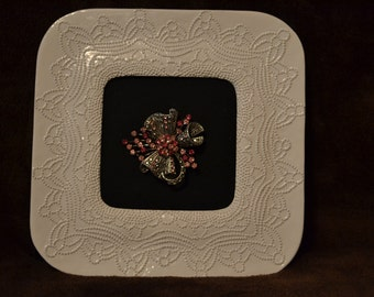 Framed Vintage Brooch
