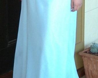 Aqua Chiffon Skirt, Long Evening Maxi Length