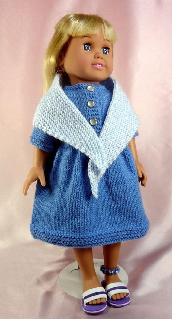 Knitting Pattern For Dolls Shawl : Prairie Dress Shawl Knitting Patterns for 18-inch Dolls
