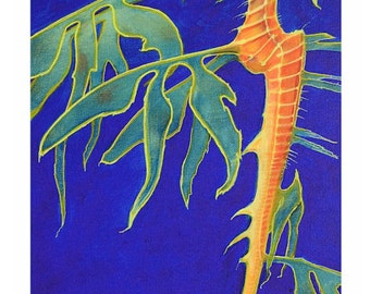 Semi-Gloss Print of Leafy SeaDragon Sea Dragon Seahorse Beach house