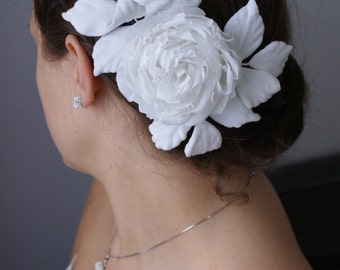 "Silk flower  hairclip ""Rose"""