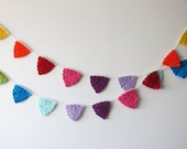Crochet bunting home decor, nursery wall decor, colorful garland, rainbow wall decor, wall hanging, crochet banner, wall ideas, kids room