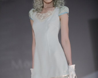 Cotton Pastel Dress, Bridesmaid Short Dress, Party Dress, Summer Dress, Short Dress, XS,