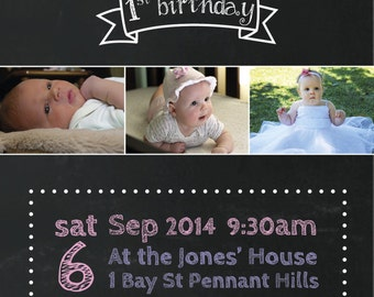 Birthday Invitations Custom Children Party Kids