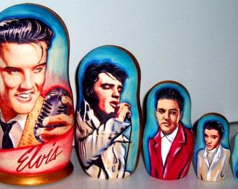 Nesting doll - Elvis Presley - russian babushka matryoshka dolls - kod167