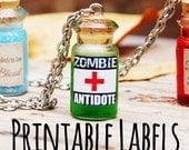 Zombie survival kit vorlage muster