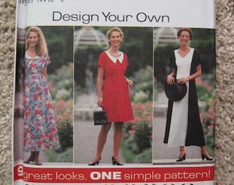 UNCUT Misses Dress - Size 12, 14, 16 - Simplicity Pattern 7499