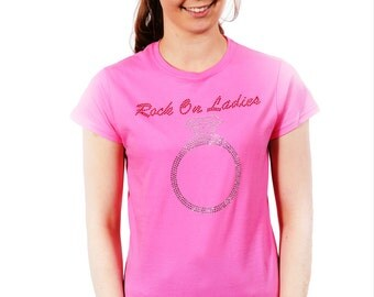 Rock on Ladies Rhinestone T-Shirt