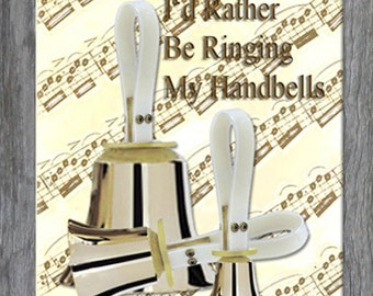 Mouse Pad - I'd Rather Be Playing My Handbells