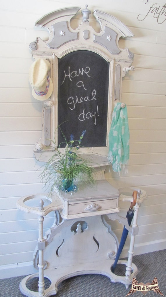 Pending sale hall tree coat rack hat rack by savedandredeemed - Adding character to your hallway with a hall tree ...