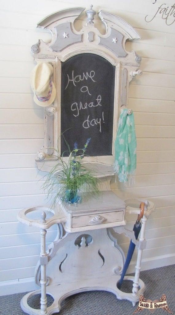 Pending Sale Hall Tree Coat Rack Hat Rack By Savedandredeemed