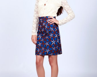 Pencil skirt, African Print Skirt