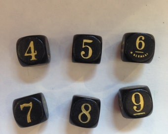 Vintage 4-9 Dice from West Germany LOT