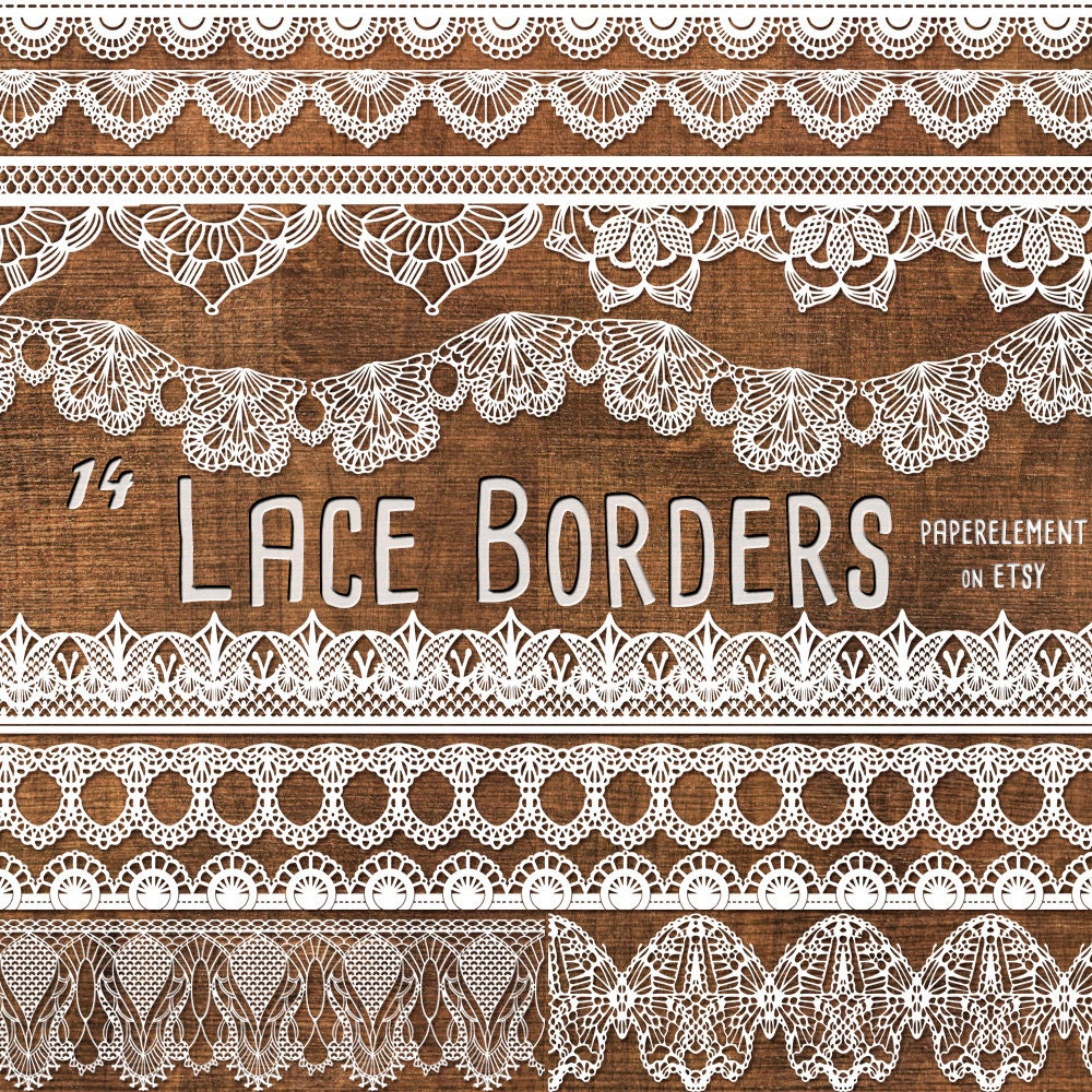 Lace Border Clipart Pack: Lace Border Clip Art by PaperElement