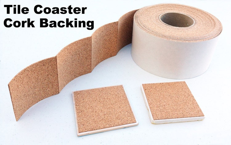 25 Cork Backing With Adhesive For Tile Coasters By