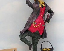 Corn Husk Doll Leprechaun #579 Callahan With Pot O Gold Corn Shuck Doll