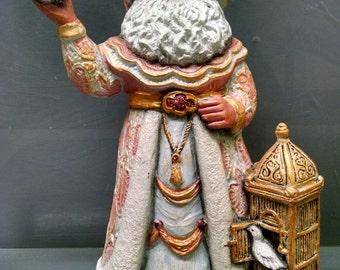 SALE!!!Peace Dove Santa -- Heirloom-quality handpainted ceramic Santa -- Christmas mantel decor