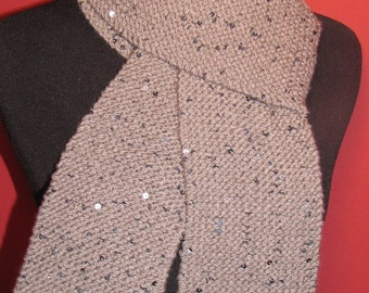 Grey Scarf with Sequins