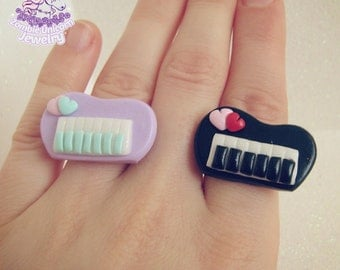 Pastel piano rings fairy kei pop kei lolita