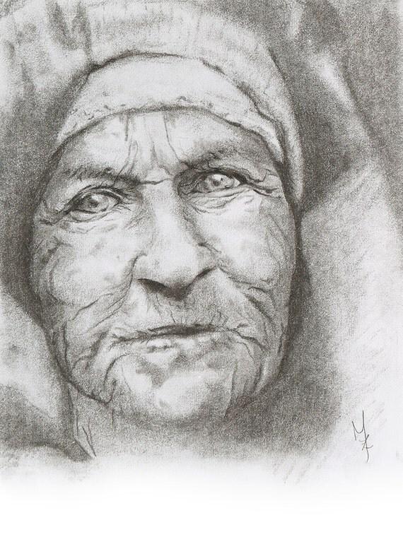 Portrait Dessin Au Fusain Art R Alisme Art Classique Art