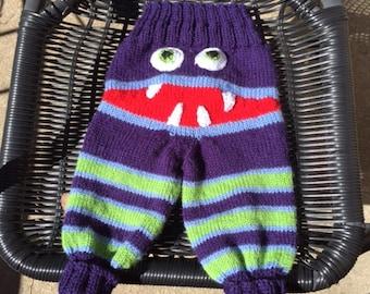 "Toddlers Monster Pants "" Bitey Bum "" leggings Pattern 3 sizes 2 leg styles"