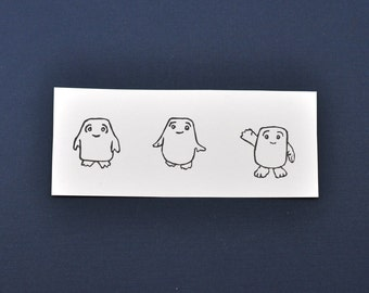 Doctor Who Adipose Rubber Stamp, Hand Carved Doctor Who Adipose stamp