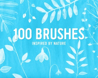 100 nature brushes for Photoshop. Instant download.