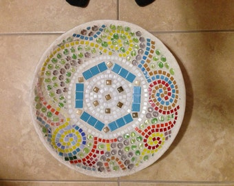Mosaic Birdbath, Mosaic Bird Bath, Customizable Bird Bath, Birdbath, Tile Birdbath, Bird Bath