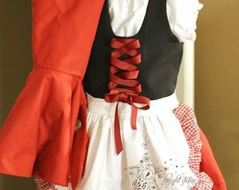 Little red riding hood costume, childrens costume halloween