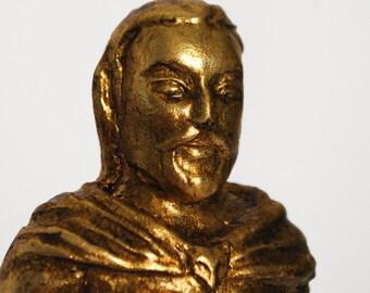 Loki - Handmade gilded sculpture
