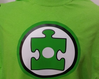 Autism Awareness - Green Superhero Adult